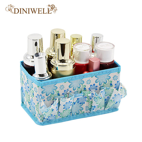 DINIWELL 5 Colors Home Office Desktop Multifunction Folding Makeup Cosmetics Zakka Storage Box Container Case Stuff Organizer