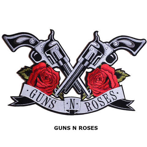 New Arrival Guns N Roses Big Patches Iron on Patch / Embroidered Patch Appliques for DIY T-shirt Jeans Jacket Backpack LSHB647