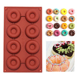 1 pcs 8/18-Cavity Donut Doughnut Baking Mold Cake Chocolate Candy Soap Silicone Mould Free shipping