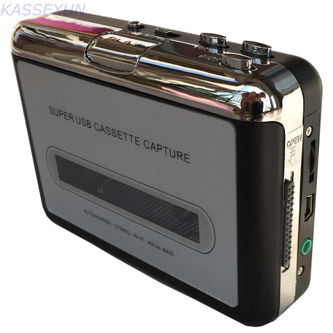 2017 New audio cassette converter covert old cassette tape to mp3 portable player in computer, for windows& MAC Free shipping