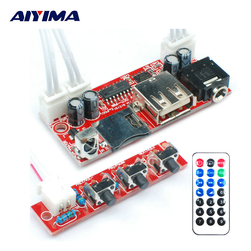 AIYIMA MP3 Player MP3TF Card USB Decoder Module DC 12V5V16V MP3 Decoder  Board WAV Lossless Decodering Board