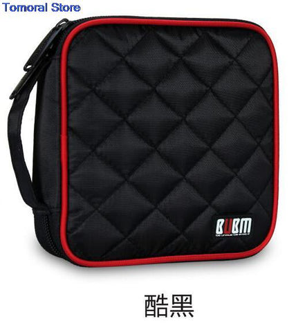 BUBM CD VCD Professional 32 Disc Capacity Car House CD / DVD Wallet Twill Cover Protect Storage Carry Bag