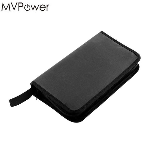 MVpower Double-sided Leather Wallet Album Bag support 80 Disc CD DVD VCD DJ Storage