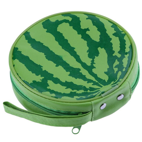 Watermelon Pattern Portable 24pcs Disc Capacity DVD CD Storage Case Holder Carry Case Organizer Sleeve Wallet Cover Bag Box