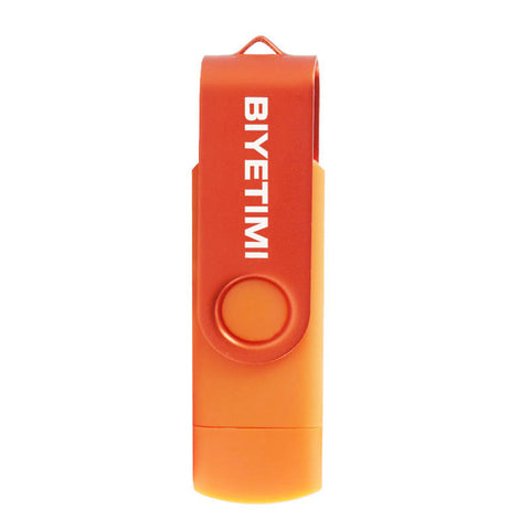 Biyetimi 9 Corlors OTG Phone USB Flash Drive 64GB 32GB 16GB High Speed Pen Drive 8GB Memory USB Stick 4GB Pendrive Flash Drive