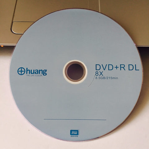 5 discs Less Than 0.3% Defect Rate 8.5 GB Huang Blank Printed DVD+R DL Disc
