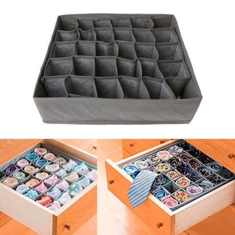 storage box organizer Flodable Non-Woven Fabric Drawer Closet 30 Grid Storage Box Bra Underwear Socks Organizer