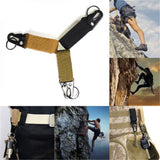 Outdoor sports Nylon Military Tactical Hanging Belt Carabiner Key Molle Buckle Hook Strap Clip