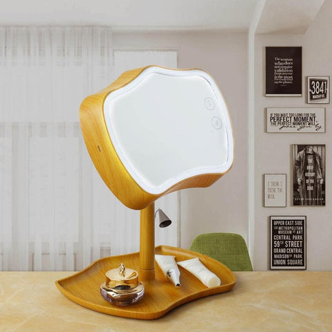 Makeups Mirror LED Touch Screen Multifunction Adjustable Use LED Desk Lamp Vanity Mirror With LED Lights