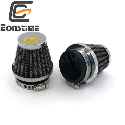 Eonstime 1pcs 35mm 39mm 48mm 50mm 52mm 54mm 60mm Motorcycle Air Filter Clamp-on Air Filter Cleaner for Honda Kawasaki Suzuki