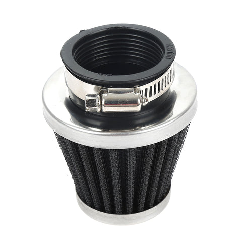 CAR-partment Motorcycle And Car Upgrade Intake Air Filter 42MM Chrome Cone Power Scooter