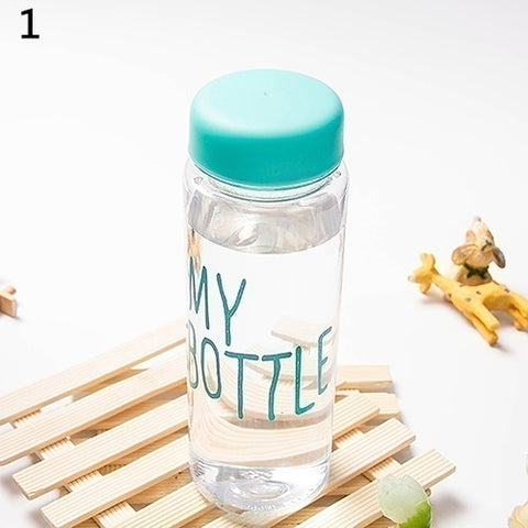500ML Transparent Water Bottle Portable Fruit Juice Bottle For Sport Travel Office botle Portable botella de agua sport drin