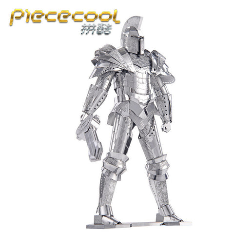 Piececool 3D Puzzle Metal Toys, P079S Black Knight DIY Puzzle 3D Metal Assembly Model, Heroes Puzzle Toy For Adult