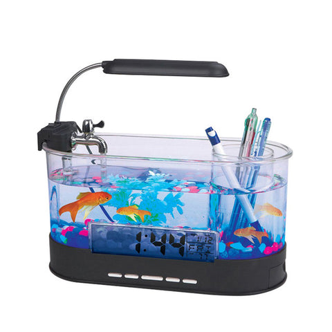 USB Desktop Fish Tank Aquarium with LED Light Fish Tank Aquarium for Home Decoration #20