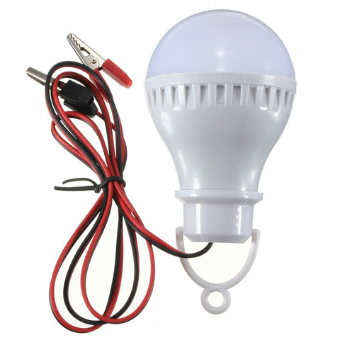 High Quality E27 5W 6000K LED Bulbs Lamp Home Camping Hunting Emergency Outdoor Light For DC 12V