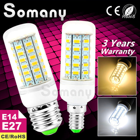 Bright 220V 110V Led Corn Bulb E27 E14 Candle Spot Light Bombillas SMD 5730 Home Decoration Led Lamp for Chandelier Spotlight