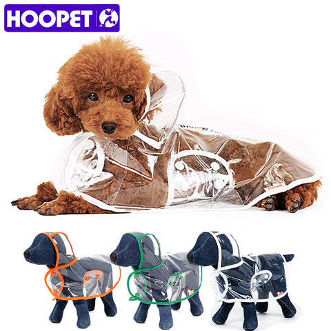 HOOPET Dog Clothes transparent raincoat light clothes waterproof beautiful small dog raincoat  with hood