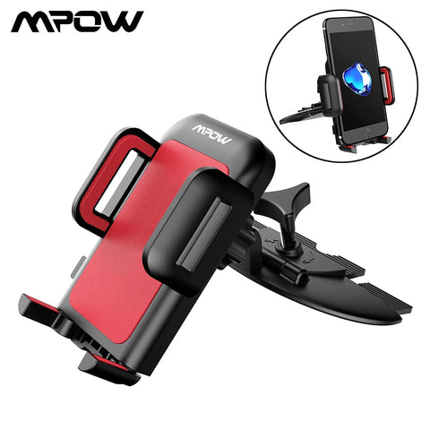 Mpow CA051 Car Phone Holder Universal CD Slot Car Mount One-touch Cradle Stand With 360 Degree Rotation For 4-6 Inch Smartphone