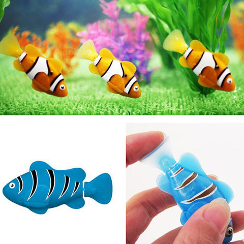 2016 Robofish Activated Battery Powered Robo Fish Toy Fish Robotic Fish Tank Aquarium Ornaments Decorations