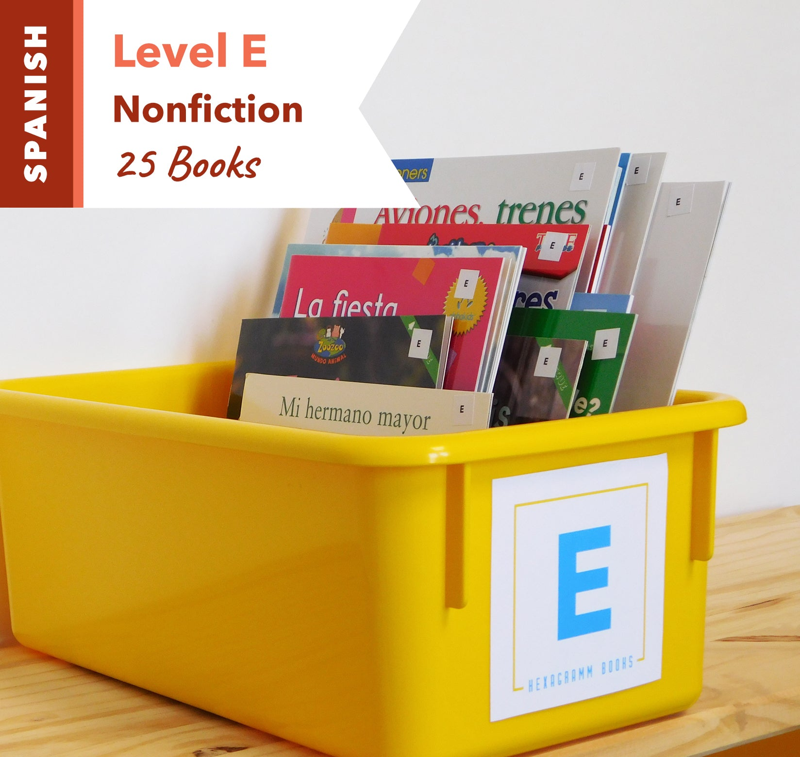 Level E, Bundle of 25 (Nonfiction) Spanish