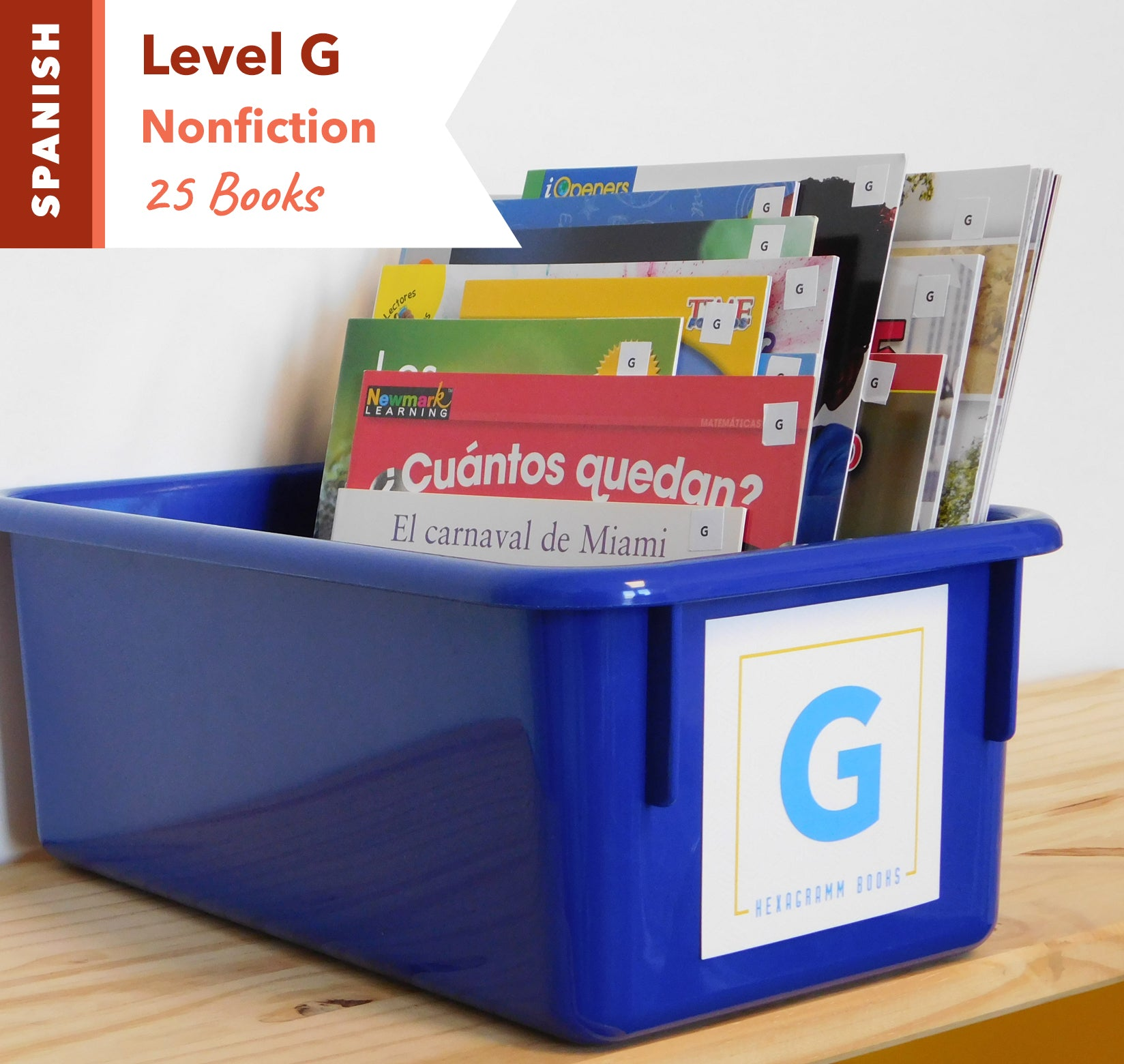 Level G, Bundle of 25 (Nonfiction) Spanish