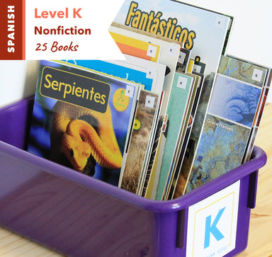 Level K, Bundle of 25 (Nonfiction) Spanish