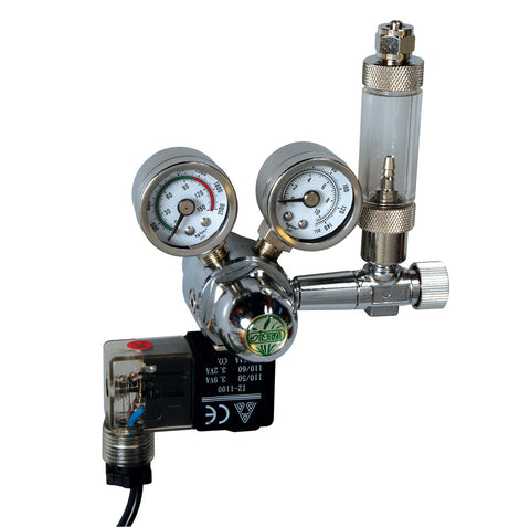 CO2 Controller with Solenoid, Bubble Counter & Check Valve