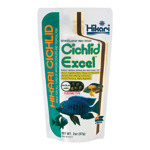 Cichlid Excel - Medium Pellets - 2 oz