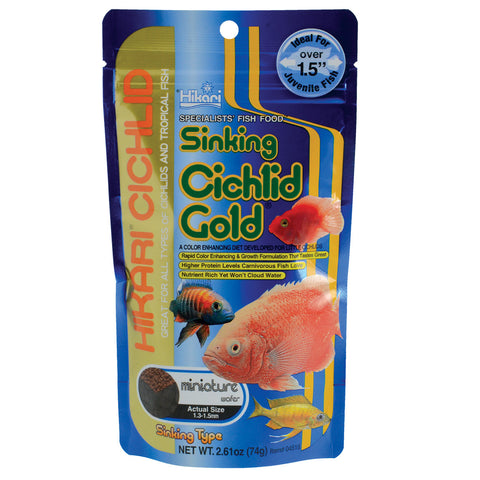 Sinking Cichlid Gold - Mini Wafer - 2,61 oz