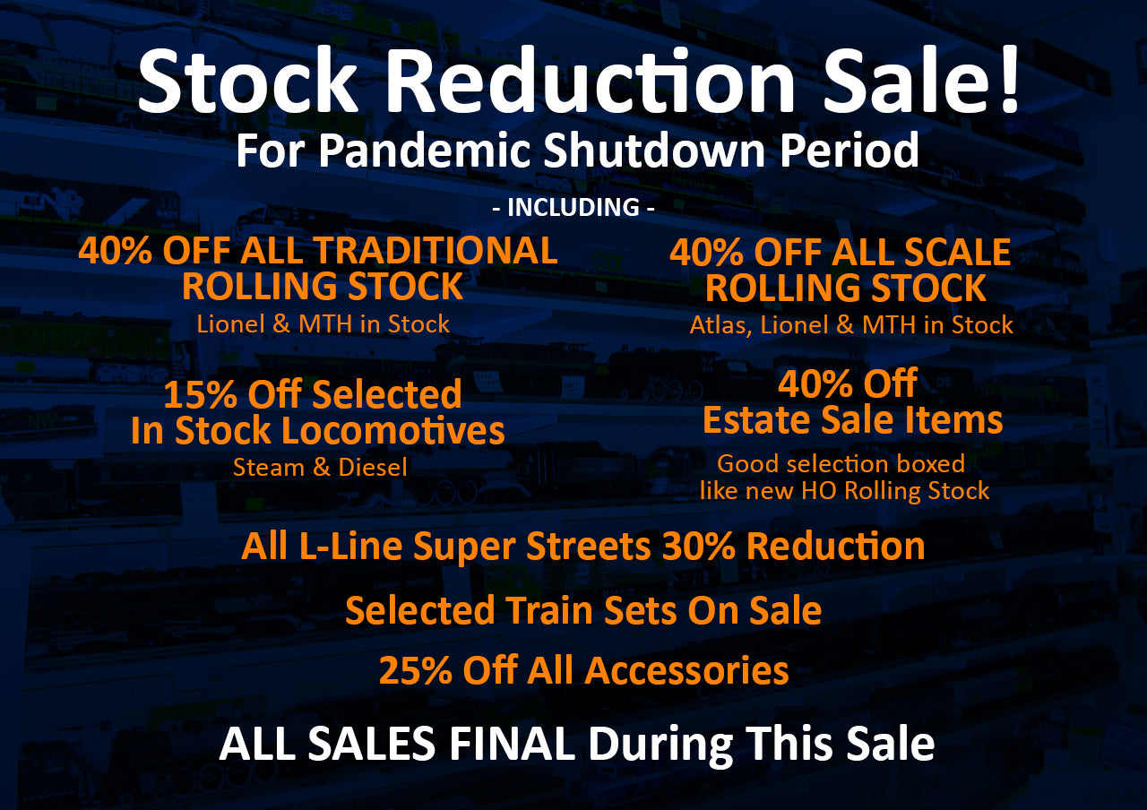 Stock Reduction Sale For Pandemic Shutdown Period