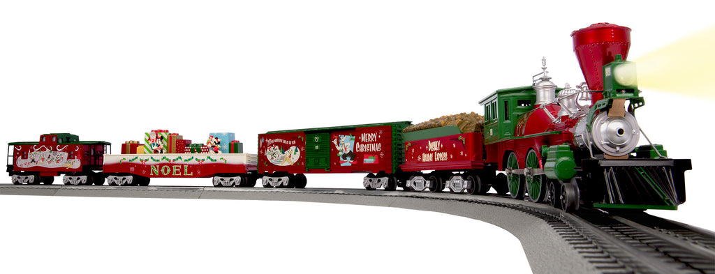 Lionel Christmas Train.Mickey S Holiday To Remember Lionchief Set With Bluetooth 6 83964