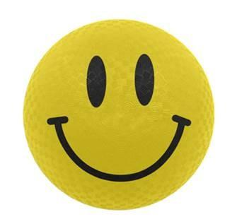 "Yellow 8.5"" Smiley Face Playground Ball"