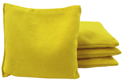 yellow cornhole bags