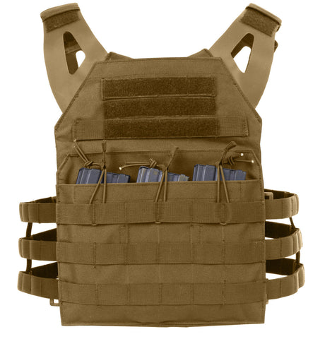 Rothco Tactical Light Weight Plate Carrier Vest Modular Coyote Brown