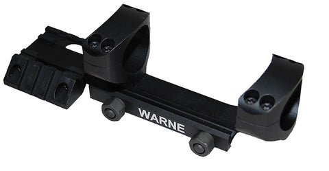 Warne Fixed Scope Mount For Ramp 30MM - Black