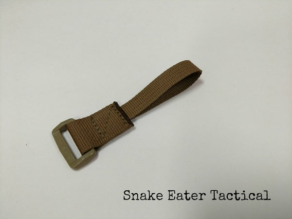 A short webbing loop for attaching your sling to the buttstock end of your carbine.