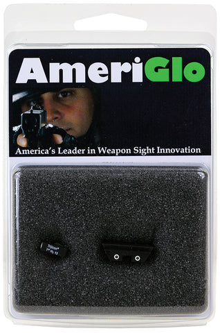 AmeriGlo GL115 Classic Night Sights For Glock 9mm/40 Green Front/Yellow Rear