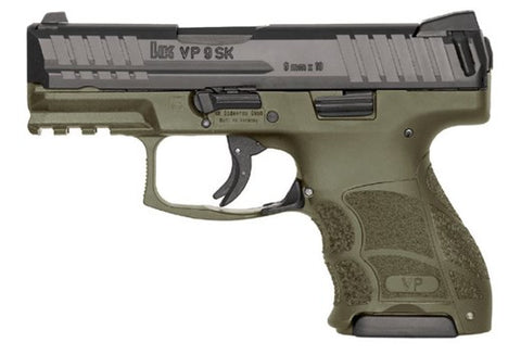HK VP9SK 9mm - OD Green, 3 Mags, Night Sights, CT Laser Grip