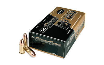 CCI Blazer Brass 9mm 115 Grain FMJ - 50rds