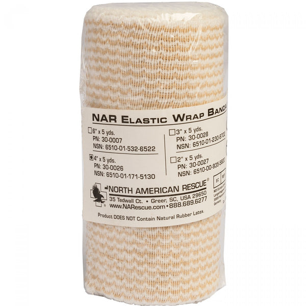 North American Rescue Elastic Wrap Bandage 4in