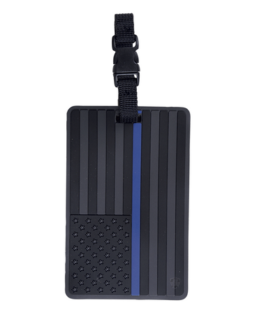 5ive Star Gear PVC Morale Luggage Tag - Thin Blue Line Flag