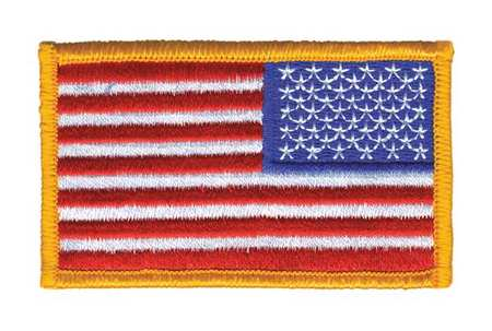 Embroidered Patch, Reverse U.S. Flag, Dark Gold