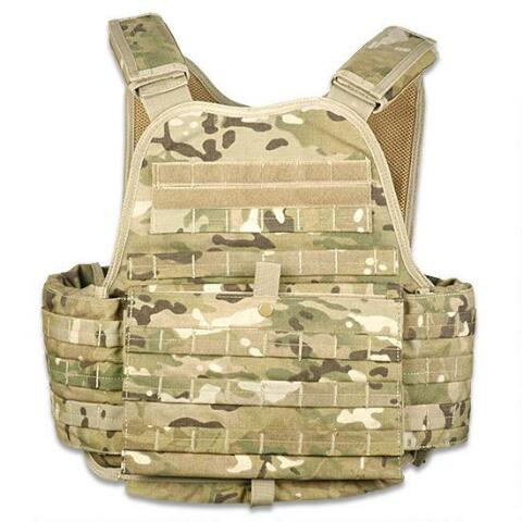 ModGear Modular Operator Plate Carrier MultiCam Front Folding Map Pocket