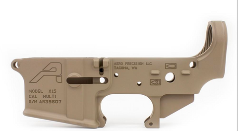 Aero Precision AR15 Stripped Lower Receiver - FDE