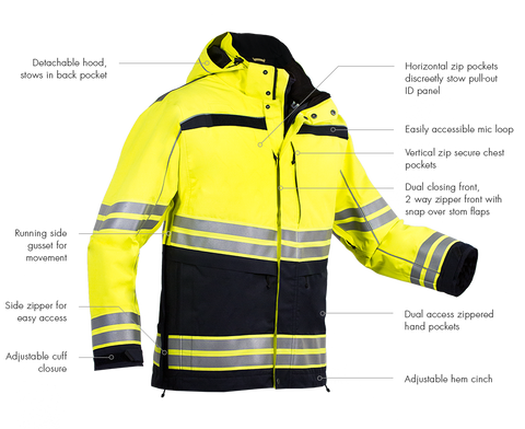 First Tactical Men's Tactix High-Vis Parka
