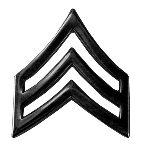 Hero's Pride Sgt Cheveron Tall with Point - Black