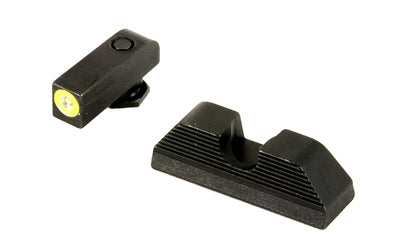 Ameriglo Yellow Outline Sights Glock 17, 19, 22, 23, 24, 26, 27, 33, 34, 35, 37, 38, 39