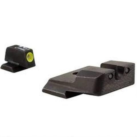 Trijicon HD Night Sight Set Smith & Wesson M&P Steel Matte 3-Dot Tritium Green with Front Dot Outline Yellow