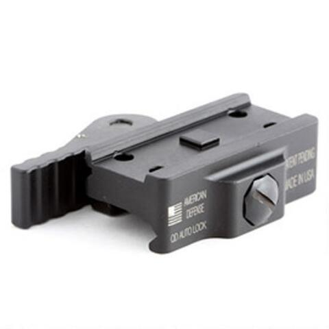 American Defense MFG Aimpoint T1/T2/H1 Micro Mount Low Height QD Auto Lock Lever Aluminum Black