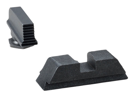 AmeriGlo GL429 Black Sights- All Glock (Except 42) Suppressor Height- Black Steel
